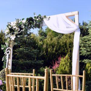 łuk ślubny, bramka ślubna, ślub w plenerze, dekoracja ślubna, ślub boho, wypożyczalnia dekoracji śląsk