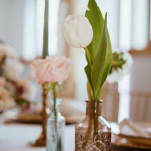 wazon, szkło, dekoracja stołu, małe wazony