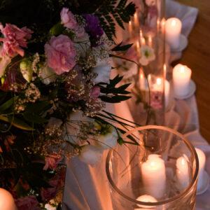 wazony, tuby, cylindry, szkło, dekoracja stołu, dekoracja sali, dekoracja kościoła