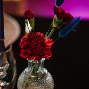 kryształowe wazoniki, male wazoniki, wazony kryształowe, dekoracja stołu