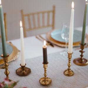 świeczniki mosiężne, świeczniki vintage, starzone świeczniki, świeczniki z mosiadzu
