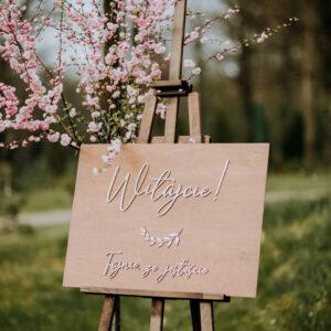 tablica powitalna drewniana, rustykalna tablica